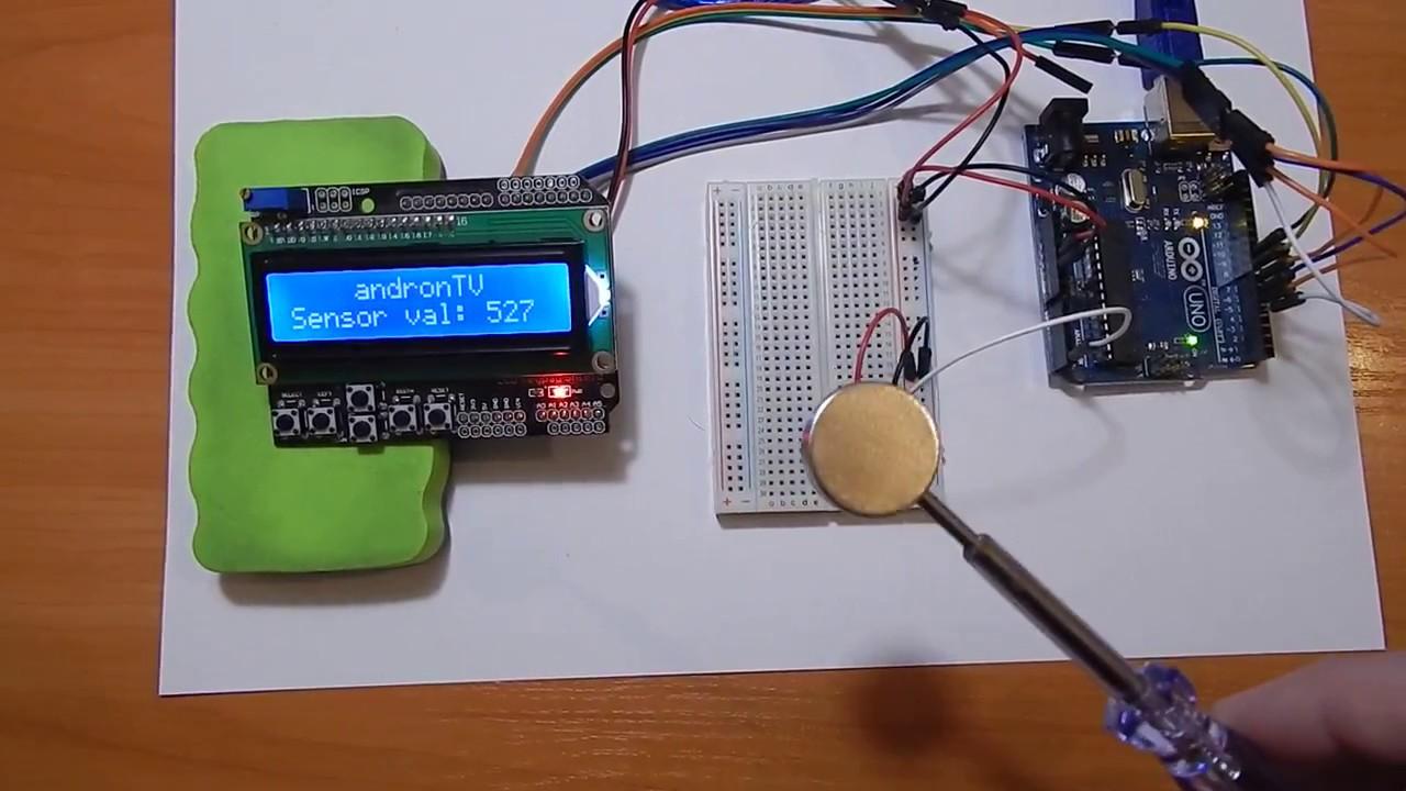 Arduino Hall Effect Sensor Lcd Magnetic Field Youtube