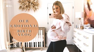 BIRTH VLOG: LABORY + DELIVERY INDUCTION DURING PANDEMIC | MEETING OUR DAUGHTER