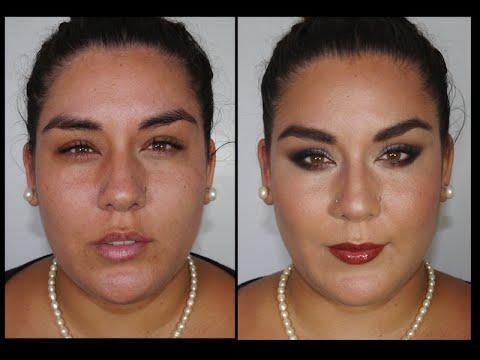 Maquillaje de Noche para Rostros Redondos