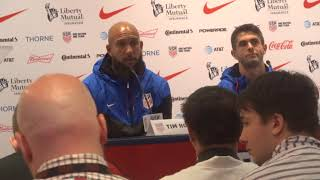 USMNT Press Conference Tim Howard and Christian Pulisic part 2 at NY 8/29/2017