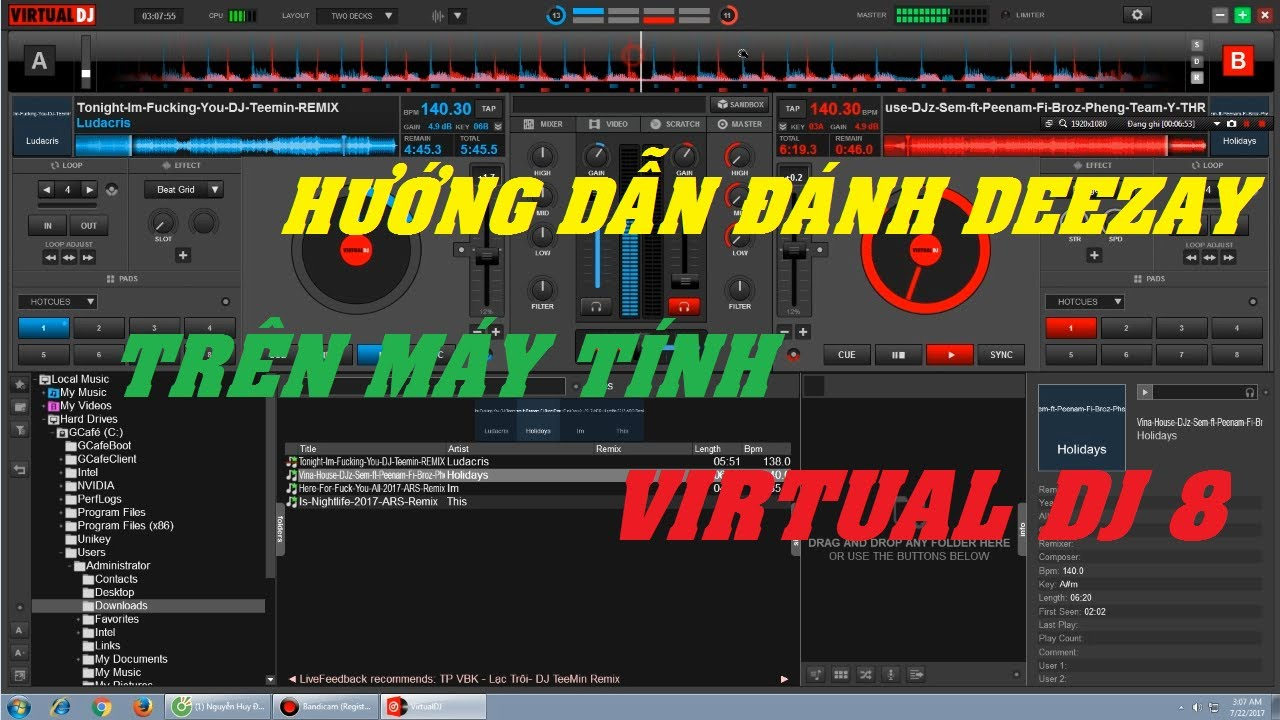 [Hướng Dẫn Cơ Bản] – Đánh DJ Trên Máy Tính VirtualDJ 8 | ĐẠT 09 ✔