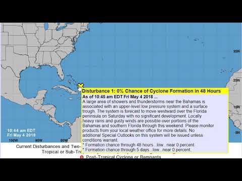 Disturbance 1 in the Atlantic 2018