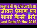 life certificate for Pensioners form fill up 2018 in SBI India|जीवन प्रमाण पत्र | 7th pay commission