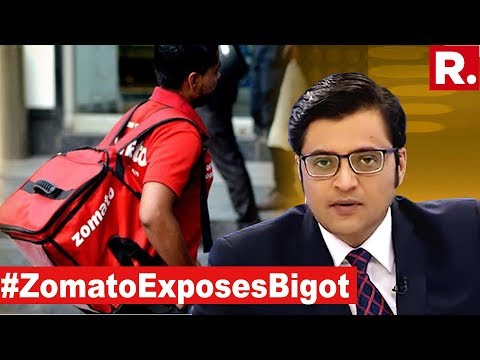 Zomato Shuts Up Hatemonger Says 'Food Has No Religion' | The Debate With Arnab Goswami