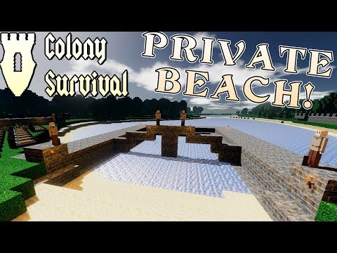 PRIVATE JACUZZI and BEACH! (Wall Expansion!) - Colony Surviv