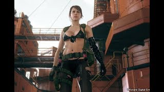 Quiet Enters Mother Base - MGSV: TPP Cutscene