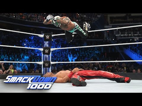 HINDI - Mysterio vs. Nakamura - WWE World Cup Qualifying Match: SmackDown 1000, 16 October, 2018