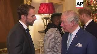 Prince Charles and Prince Harry meet Tom Hardy, Tinie Tempah and Gareth Southgate