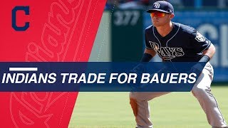 Indians acquire Jake Bauers in a three-team deal