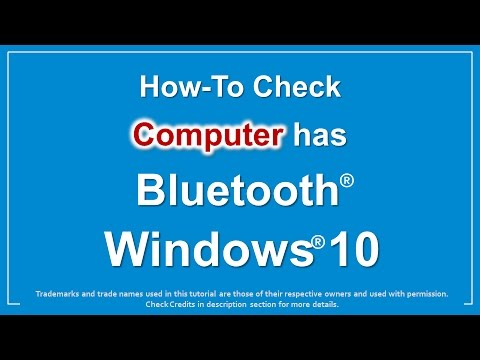 How to see if your computer has bluetooth windows 10 | 3 Ways to