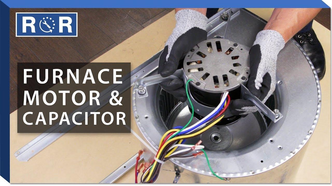 [DIAGRAM_5LK]  Furnace Motor & Capacitor | Repair and Replace - YouTube | Furnace Motor Wiring Diagram |  | YouTube