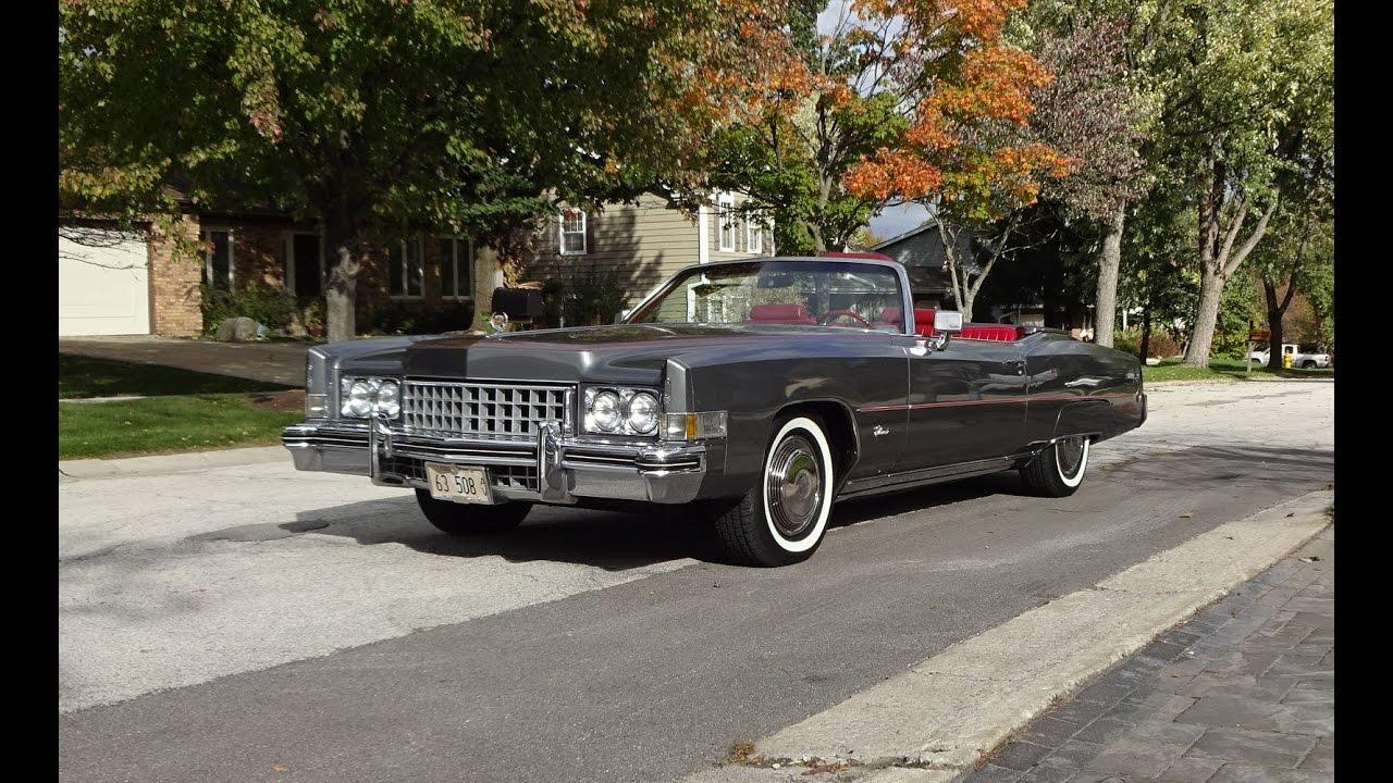 1973 Cadillac Eldorado Convertible in Gray & Engine Sound ...