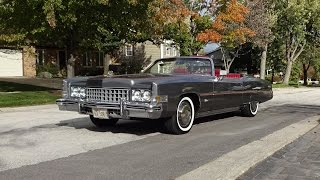 1973 Cadillac Eldorado Convertible in Gray & Engine Sound on My Car Story with Lou Costabile