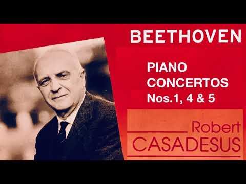 Beethoven - Piano Concertos No.1,4, 5 'Emperor' (reference recording : Robert Casadesus)