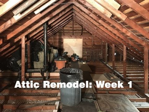 Attic Remodel Week 1