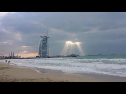 Cloudy Dubai Umm Suqeim Beach