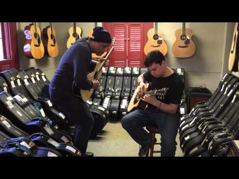 Allan Craig Wallace Jamming Wildwood Music Guitars in Ohio Apirl 5th 2015.