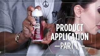 How to apply hair products before blow drying - Part 1/6