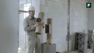 ДОМ ЗА ГОД. Установка дымоходов к камину и газовому котлу