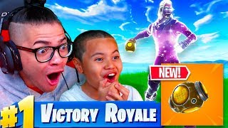 'NOUVEAU' PORT A FORTRESS GAMEPLAY IN FORTNITE BATTLE ROYALE! DUOS AVEC 10 ANS OLD USING GALAXY SKIN!