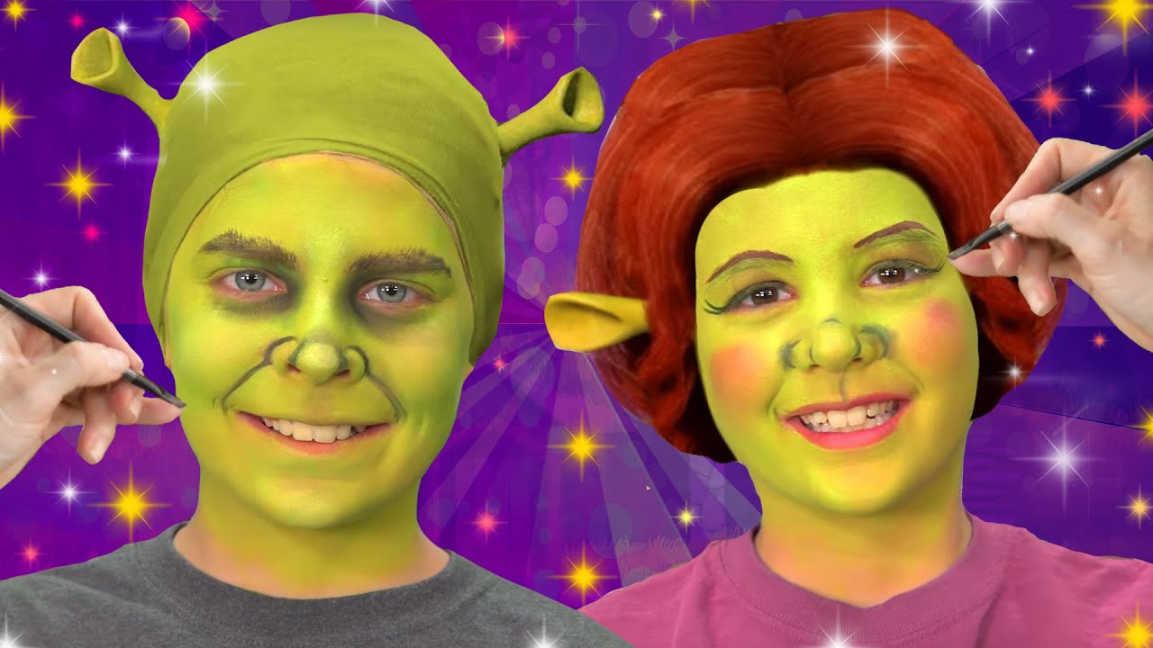 Shrek Characters Face Paint We Love Face Paint Youtube