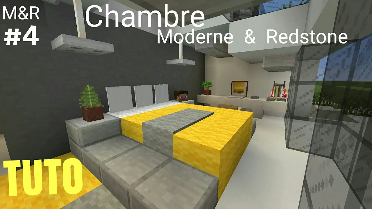 TUTO Minecraft Maison Moderne & Redstone Part.4 : Chambre PS4  (PS3/XBOX360/XBOXONE/PC)