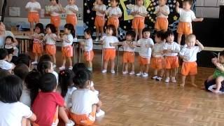 0・1・2歳児クラス、『七夕まつり』の前日祭で・・・