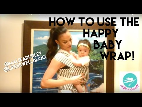 How To Use The Happy Baby Wrap Youtube