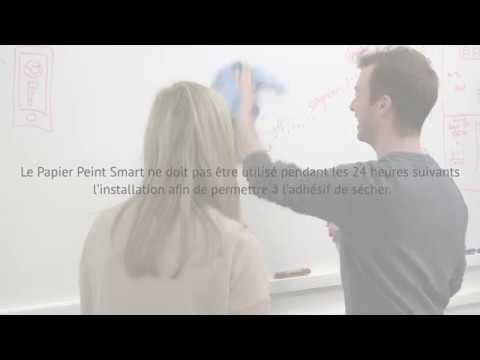 Comment Appliquer les Papiers Peints Tableau Blanc - YouTube