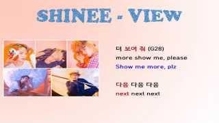 Shinee- View lyrics Video for Korean Learners