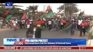 Pro-Biafra Protest: Demonstrators Call for Release Of Nnamdi Kanu -- 18/01/16