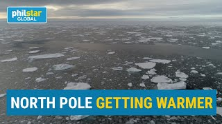 North pole getting warmer, shows signs of global warming