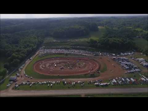 Midway Speedway Crooksville, Ohio Grand Re-opening Aerial View