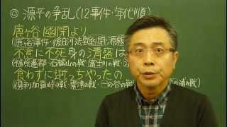 語呂合わせ日本史〈ゴロテマ〉31(中世3/源平争乱)改