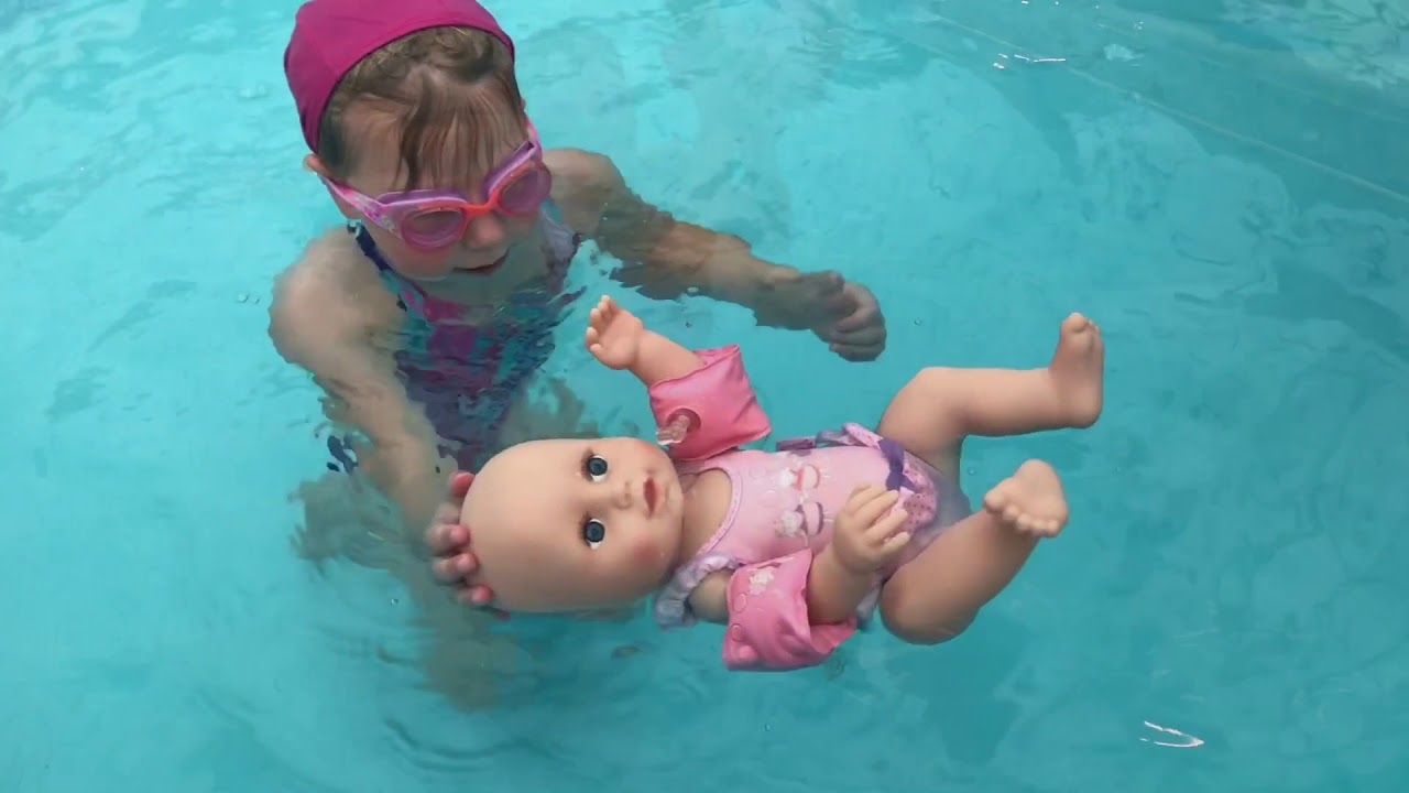 Baby Annabell Learns to Swim - YouTube