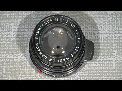 Loose aperture ring in Leica Summicron-M 1:2/50   (Made in Canada)