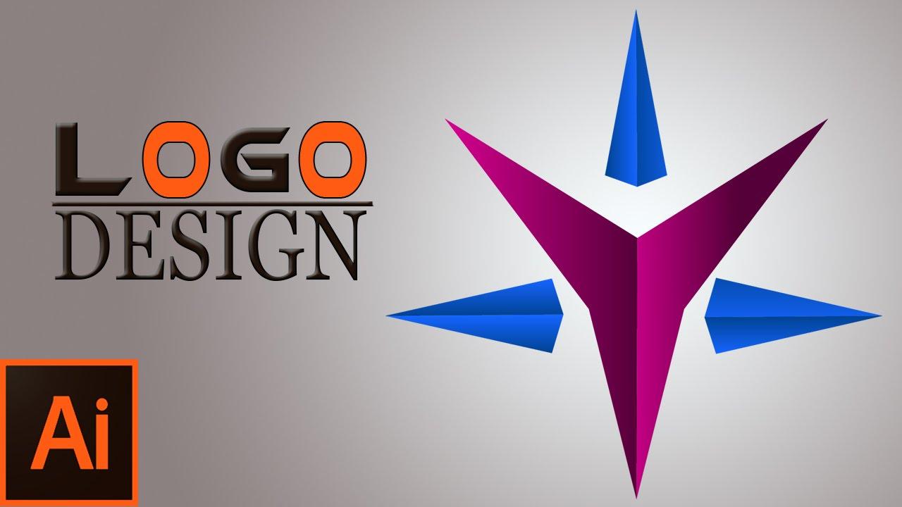 professional logo designstar logo in illustrator