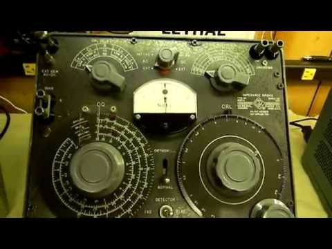 General Radio GenRad 1650-A Impedance Bridge.MOV