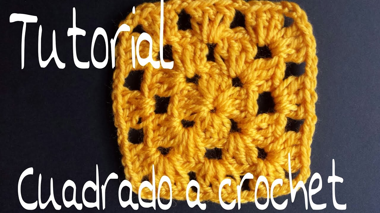 Tutorial Cuadrado a crochet paso a paso - YouTube