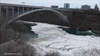 Ice Bridge at Niagara Falls, DAY 67 since formation (Apr.2, 2019)