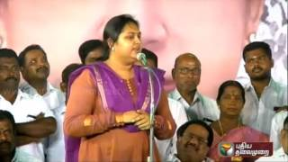 Actress Vindhya's response to criticism about the changes in the ADMK candidate list
