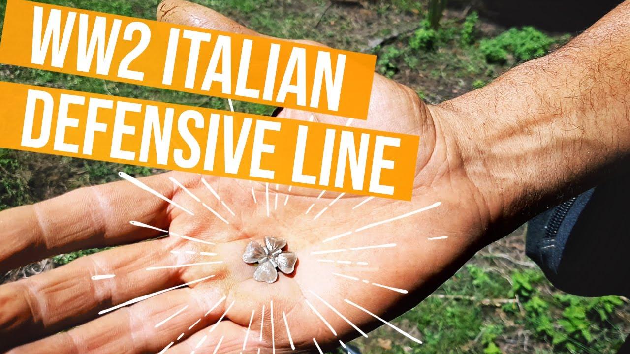 Con il metal detector tra i resti delle linee italiane e tedesche WW2