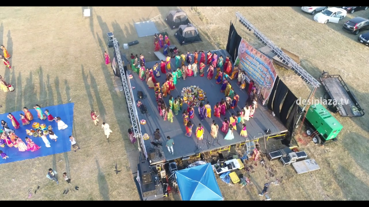 Beautiful Drone Shot of DATA - 2017 Bathukamma & Dasara Panduga Venue