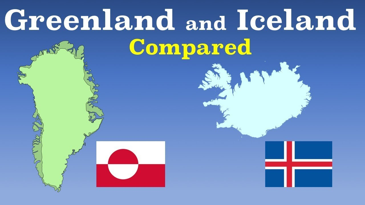 Iceland And Greenland World Map.Greenland And Iceland Compared Youtube