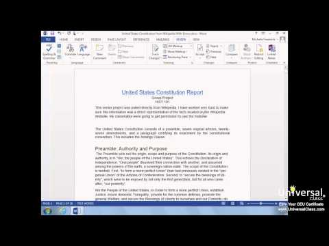 Proofing, Printing, and Publishing in Microsoft Word 2013 Tutorial