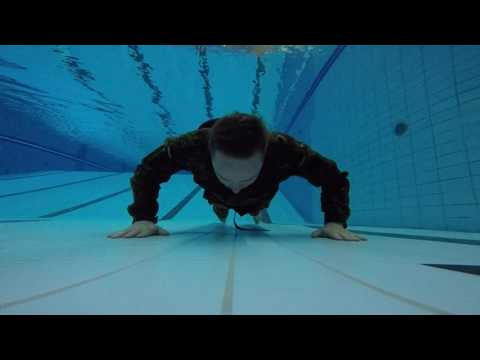 Military 22 Pushup Challenge UNDERWATER Navy Seal Style