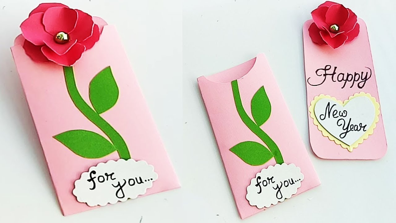 how to make new year card for boyfriend or girlfriend handmade new year card idea
