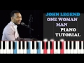 Download John Legend - One Woman Man (Instrumental Piano for Singers and Tutorial)