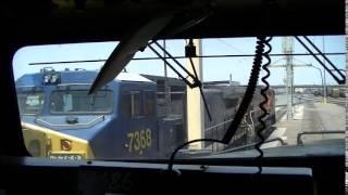 cab ride inside a bnsf ac4400cw and bnsf es44dc