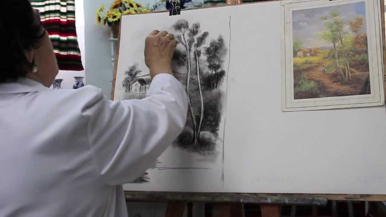 13. Dibujo Y Pintura. Paisajes A Carboncillo 1 / Drawing